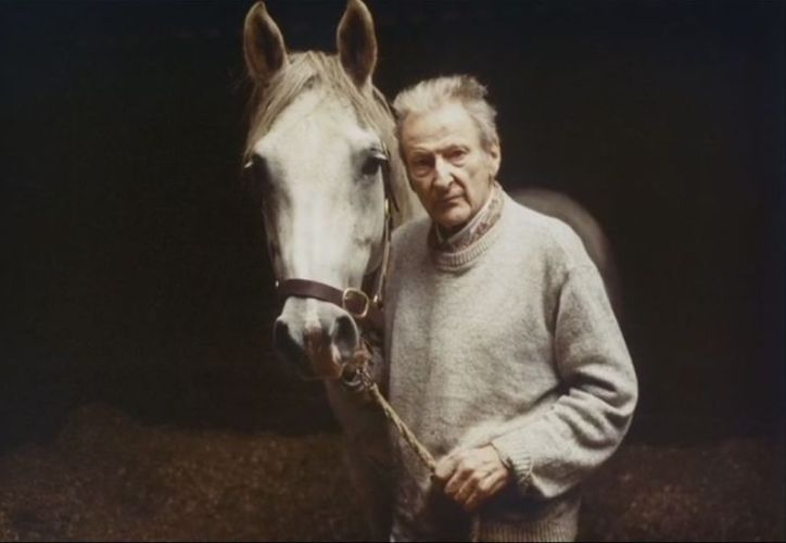 Lucian Freud and horse by David Dawson