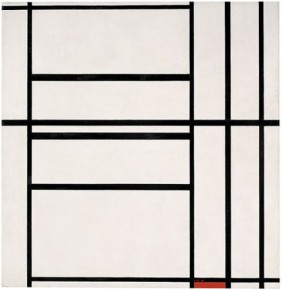 Mondrian: Composition No. 1; Composition with Red, 1938–39