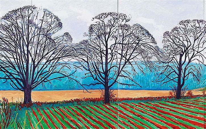 Three Trees near Thixendale, Winter 2007