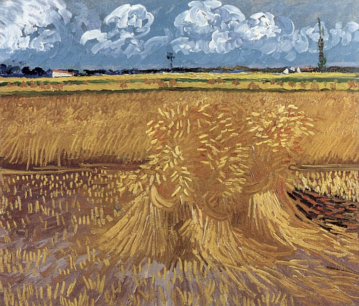 Van Gogh, Wheat Field, June 1888
