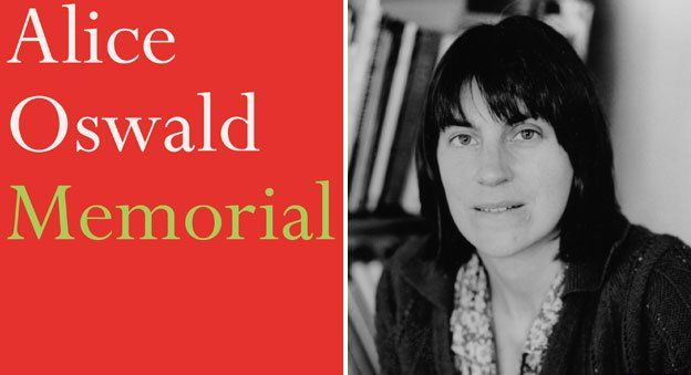 Alice Owald and the cover of Memorial