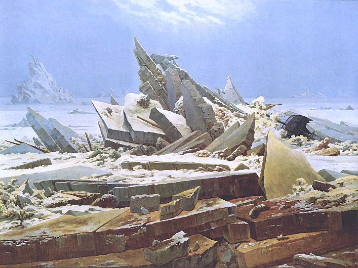 Caspar David Friedrich, Arctic Shipwreck (1824)