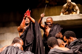 Paterson Joseph, Cyril Nri and Theo Ogundipe in Julius Caesar