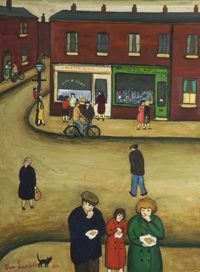 Love Lane Corner, 1972 by Alan Lowndes