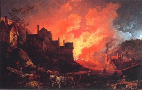 Philip de Loutherbourg: Coalbrookdale by Night, 1801