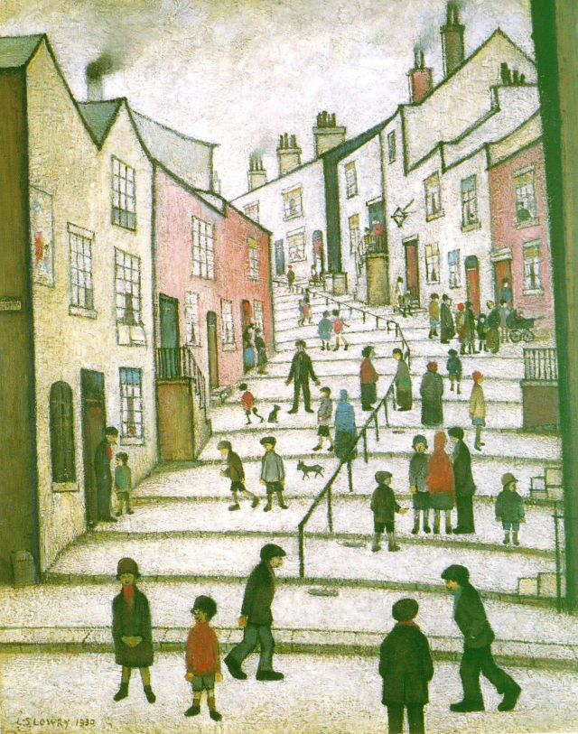 Lowry, A Street in Stockport, 1930