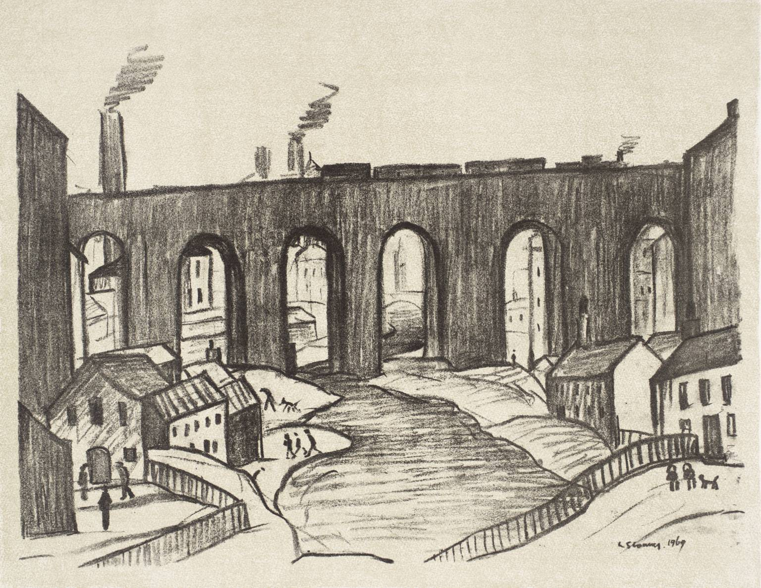 Lowry, The Viaduct, Stockport 1969
