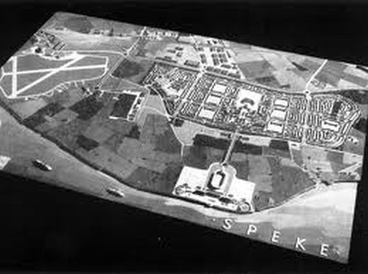 1936 model of the planned Speke new town
