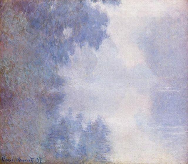Monet Morning on the Seine Mist 1897