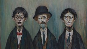 LS Lowry Father and Two Sons 1950