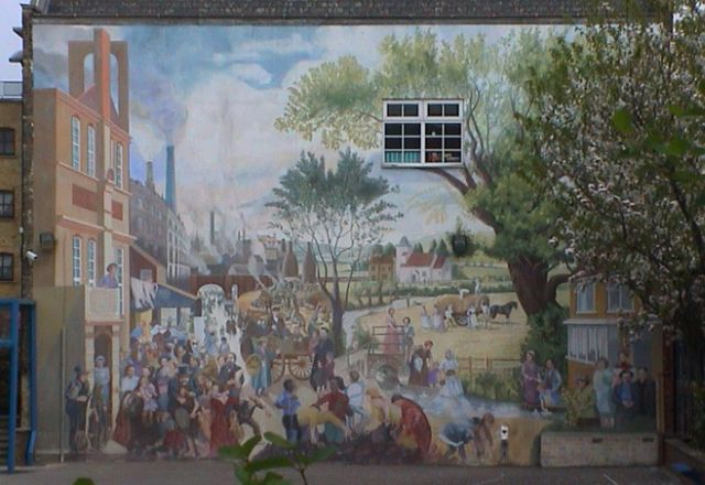 The mean streets of somers town that 39 s how the light gets in for Anthony quinn mural