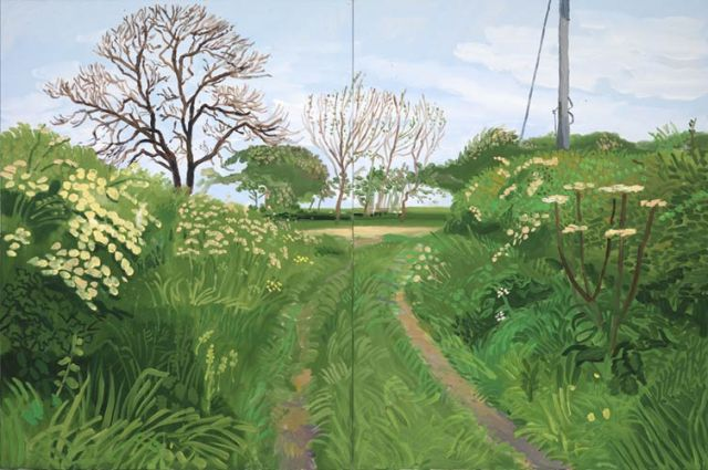 David Hockney- Woldgate lane to Burton Agnes, 2007