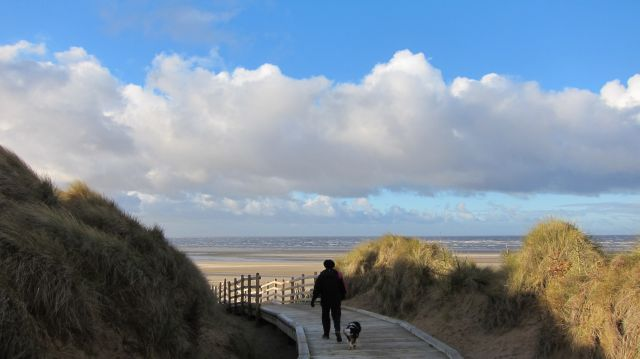 On the beach at Formby
