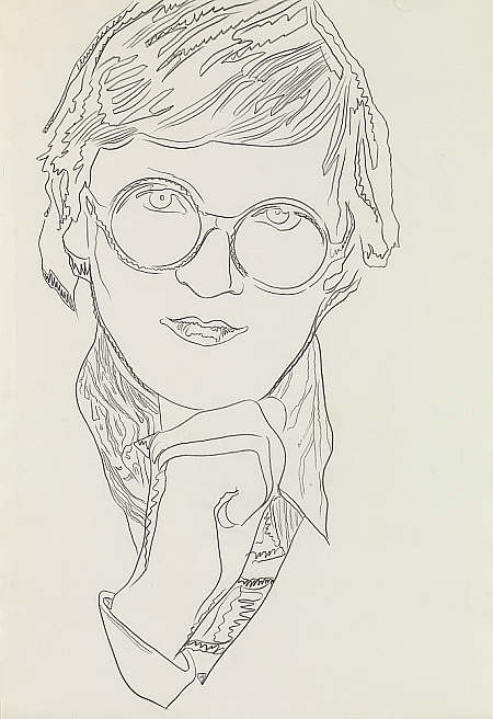 Andy Warhol, David Hockney, 1974