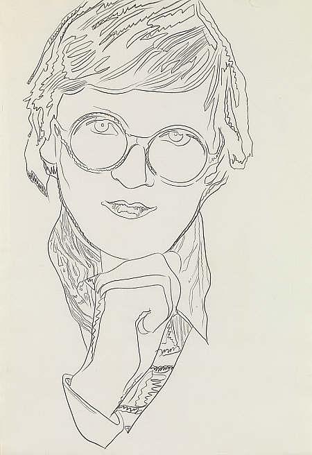 Andy Warhol, David Hockney, 1974