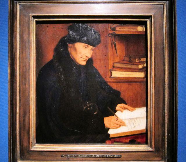 Quinten Massys, Desiderius Erasmus,1517