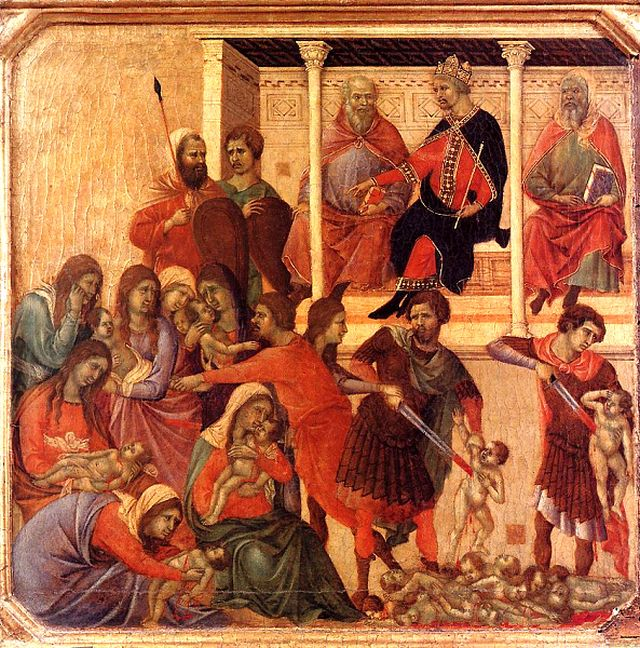 Duccio, Massacre of the Innocents, 1388