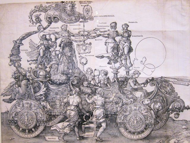 Durer, The Great Triumphal Cart (detail), 1523