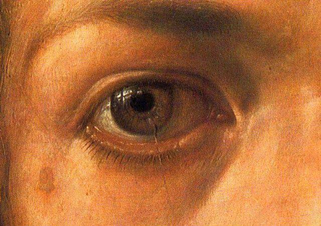 Durer's eye (from the 1500 Self-Portrait)