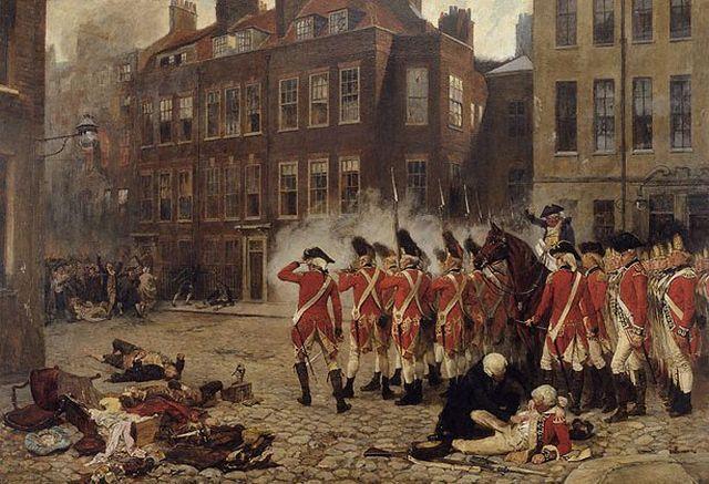 Gordon riots 19th century painting