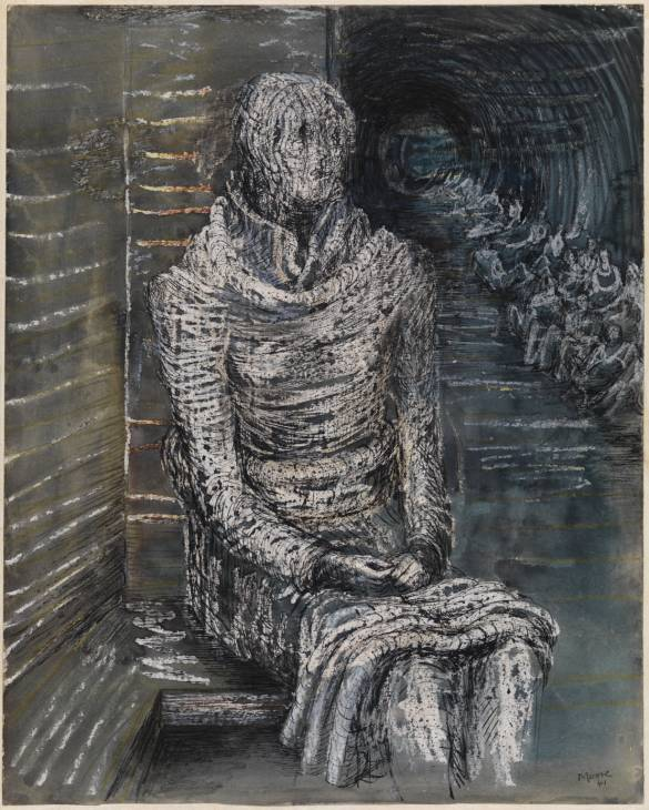 Woman Seated in the Underground 1941
