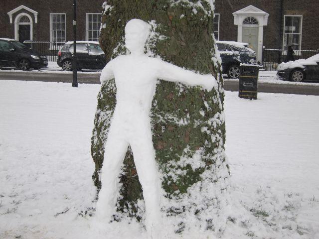 Highbury Fields snow 2