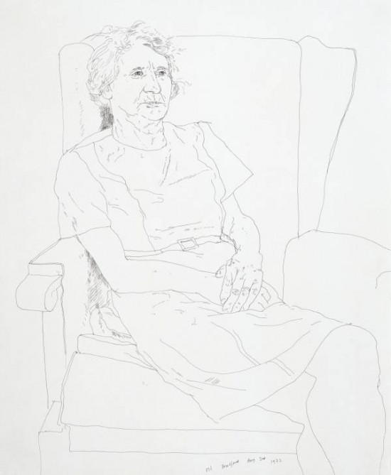 David Hockney, Portrait of the Artist's Mother, Mrs Laura Hockney, Bradford 1972