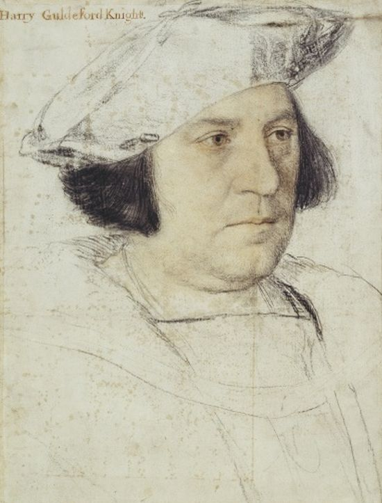 Holbein, Henry Guildford preparatory, 1527