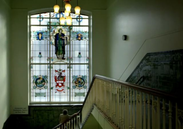 Jeanette Winterson inside Accrington Library