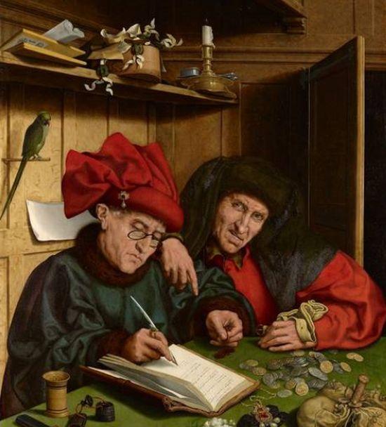 Marinus van Reymerswaele, The Misers, 1548