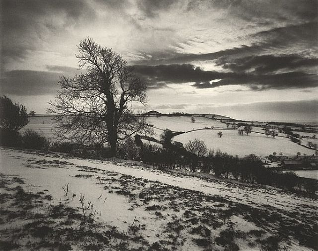McCullin Somerset under snow, Roman hill fort