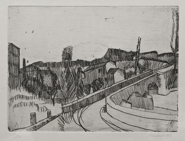 Morandi, Bridge on the Savena, Bologna, 1912