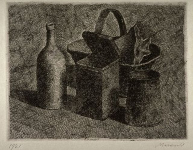 Morandi, Still Life with Basket of Bread, 1921
