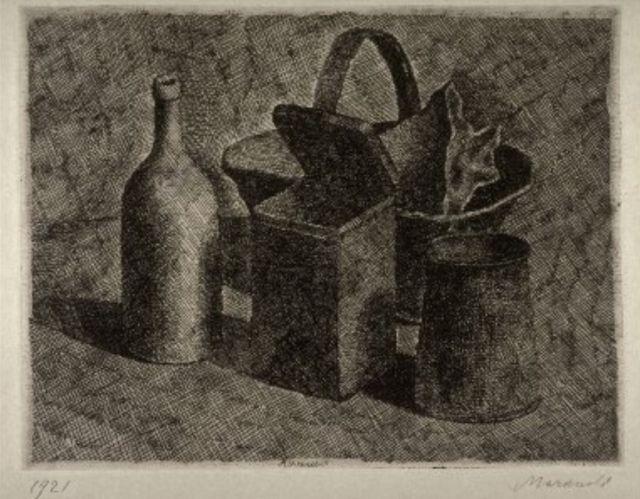 Morandi, Still Life with Basket of Bread, 1921