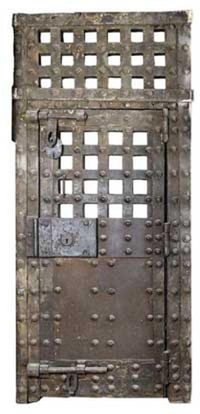 Newgate prison door