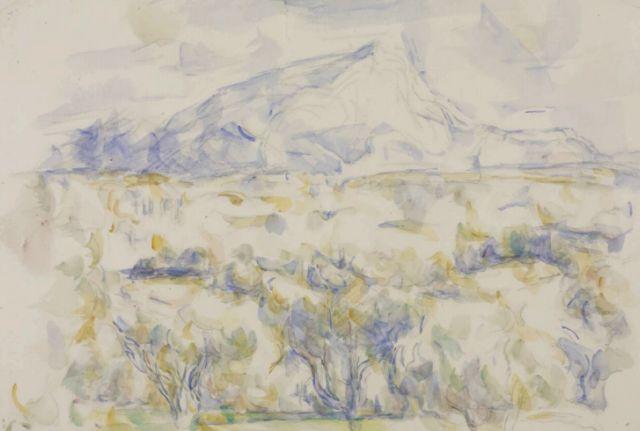 Paul Cézanne, Montagne Sainte-Victoire,1905-6