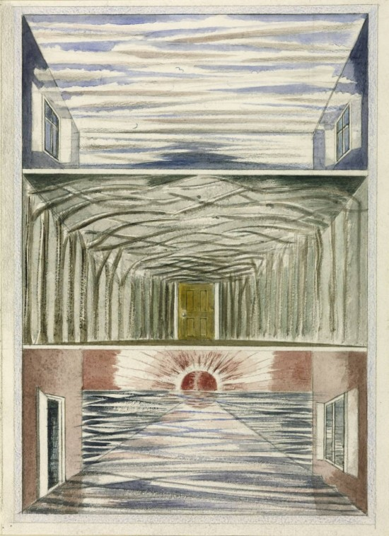 Paul Nash, Three Rooms, 1937