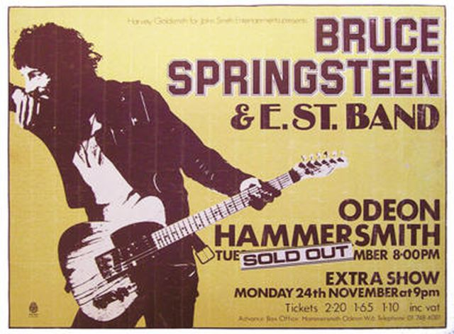 Promotional poster for the November 1975 shows at the Hammersmith Odeon