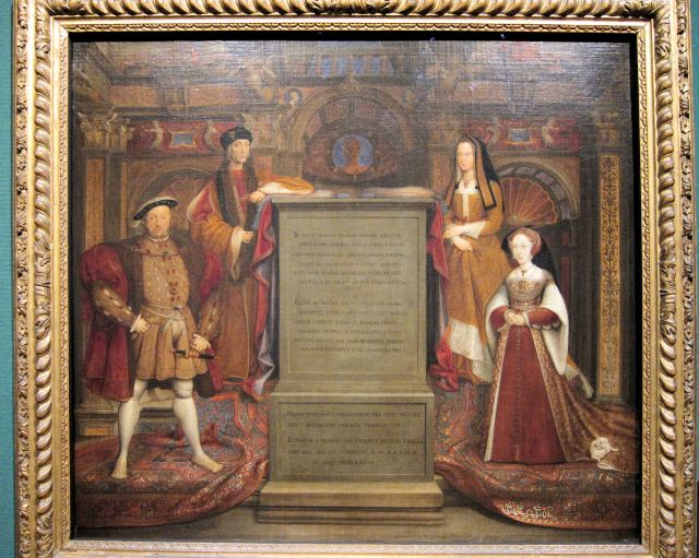 Remigius van Leemput, Henry VII, Elizabeth of York, Henry VIII and Jane Seymour, 1667