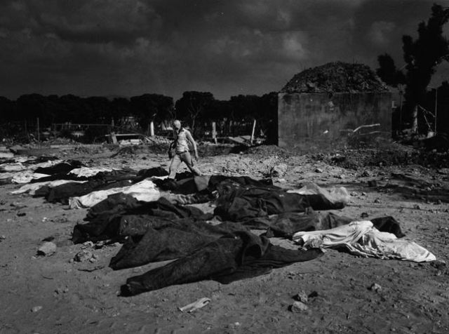 Palestinian victims of the Sabra and Shatilla massacre, Beirut, 1982