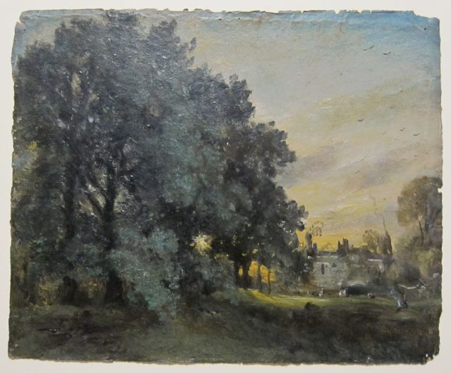 Study of a House Amid Trees, Evening