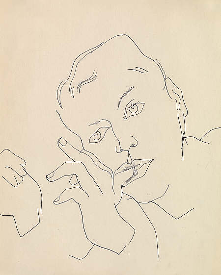 Warhol, Boy with thumb in his mouth, 1956