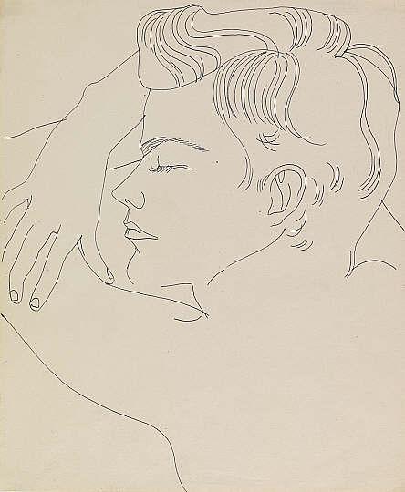 Warhol, Resting Boy, 1955