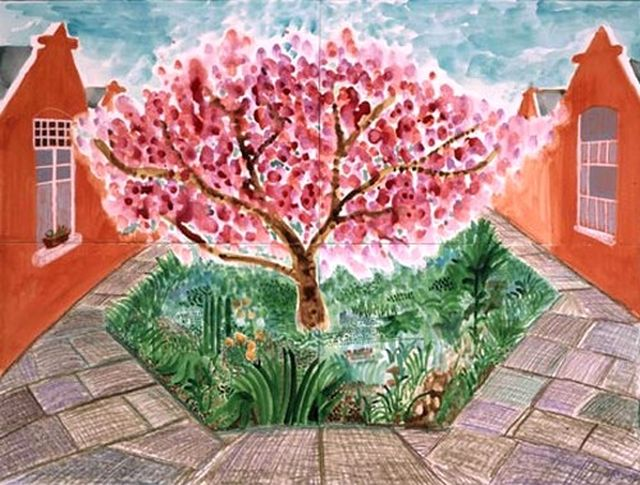 David Hockney Cherry Blossom, 2002