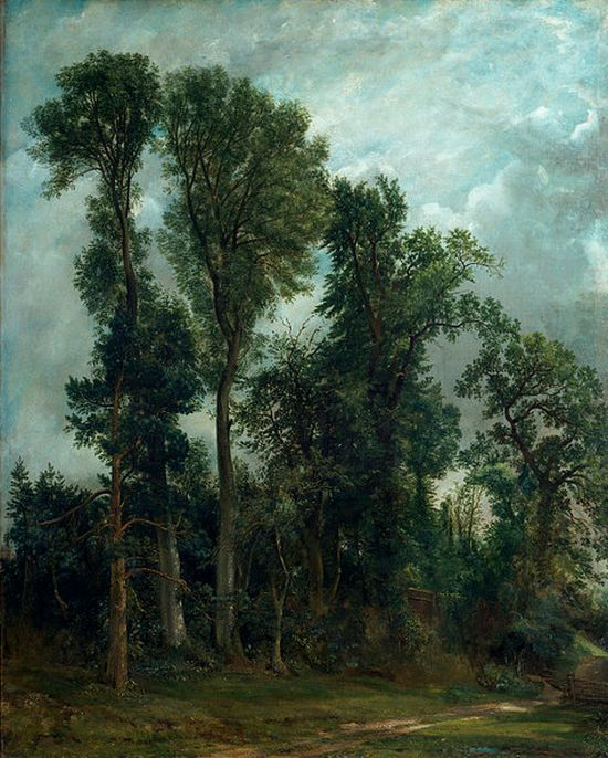 Trees at Hampstead, The Path to Church, 1821
