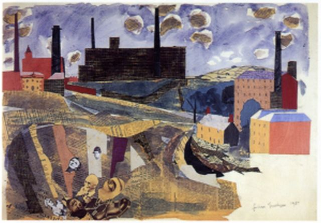 Bolton mills, 1937, Julian Trevelyan