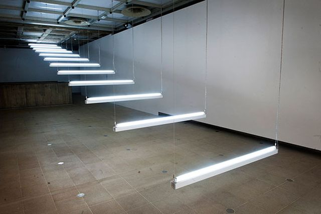 Brigitte Kowanz Light Steps (1990)