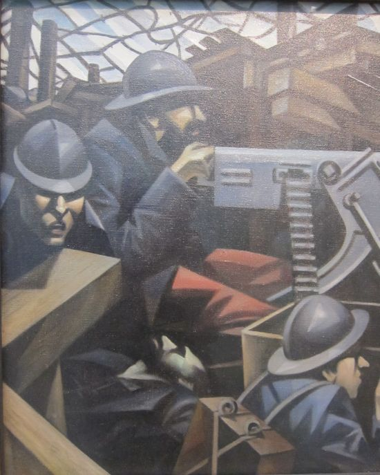 Christopher Richard Wynne Nevinson La Mitrailleuse 1915