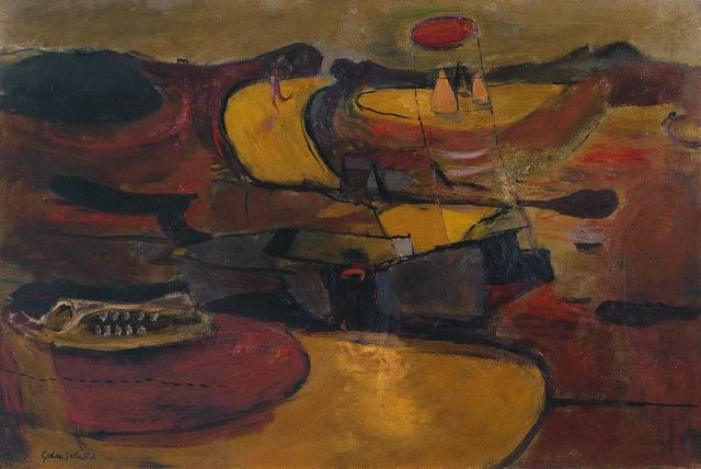 Welsh Landscape with Roads 1936 by Graham Sutherland