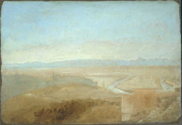 Hill Town on the Edge of the Campagna ?1828 by Joseph Mallord William Turner